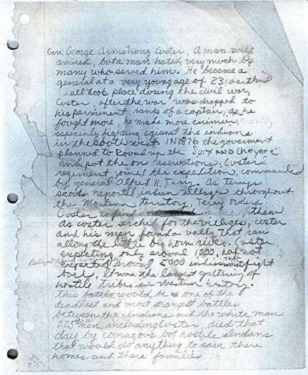Custer Essay