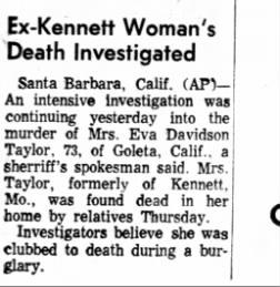 Eva Davidson Taylor Newspaper