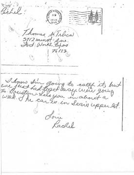Thomas Trlica letter