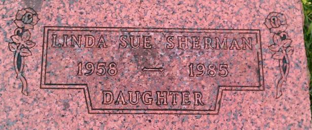 Linda Sherman Tombstone